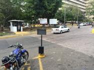 Hospital Central de San Cristobal. Main entrance. See steep slope.